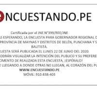 PRÓXIMA ENCUESTA PARA GOBERNADOR REGIONAL Y ALCALDÍAS DE MAYNAS, SAN JUAN BAUTISTA,BELÉN Y PUNCHANA